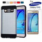 Hybrid Armor Shockproof Brushed Case Dual Layer Cover for Samsung Galaxy ON5