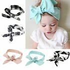 Baby Kids Girls Navy BowKnot Rabbit Turban Headband Headwear Hair Accessories