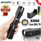 Focus G700 X800 Tactical Flashlight LED 5 Modes Torch Lamp 18650 Battery Charger