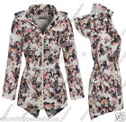 NEW Girls Raincoat Mac Girl Cagoule Shower Proof Jacket Age 7 - 13 Years Floral