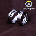 OW Overwatch Game finger Ring Rustproof titanium steel with chain box four sizes