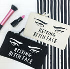 Resting Bitch Face Make Up Bag - Ladies Wash Bag - Cosmetics Bag - Gift For Her