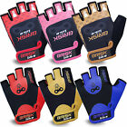 Men Cycling Gloves Bike Half Finger Bicycle Gel Padded Fingerless Sports Glove