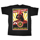 Star Wars Rule The Galaxy Darth Vader Poster Licensed Adult T-Shirt - Black