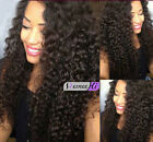 "100% Indian Remy Human Hair Jerry Curly full/Front Lace Wigs 12""-24''"