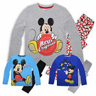 Boys Long Sleeved Disney Mickey Mouse PJ Set New Kids Nightwear 3 4 6 8 Years