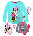 Girls Long Sleeved Disney Minnie Mouse PJ Set New Kids Pyjamas Ages 2-8 Years