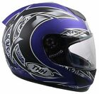 THH TS-41 HELMET BLUE WITH BLACK AND SILVER (SMALL) DOT AND SNELL APPROVED