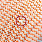 RZ15 Orange ZigZag Round Electric Cable covered by Rayon fabric