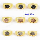 Similar 1Pcs Gold Plated Bezel Oval Titanium Druzy Ring AZG128