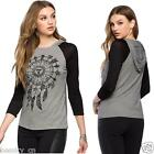 Women's Fashion Blouse Tribal Dreamcatcher Printed Hooded T-shirt Blouse Top