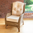 Alfresia Conservatory Furniture Denver Wicker Reading Bedroom Chair with Cushion