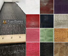 CROCODILE VINYL TOLEX FABRIC ALLIE UPHOLSTERY BY THE YARD IN 9 COLORS