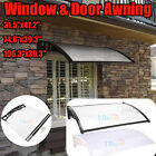 US 3 Sizes Window Awning Outdoor DIY Front Door Canopy Patio Cover Yard Garden