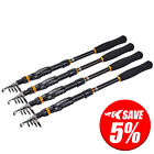 KastKing BlackHawk Telescopic Fishing Rods - Travel Spinning Fishing Rods