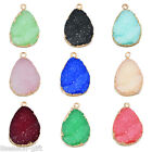 1PC NEW Fashion Teardrop Shape Resin Pendant Jewelry 26x18mm