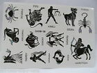 Quality Black Unisex Arty Signs of Zodiac: Leo Aries Temporary Tattoos UK Seller