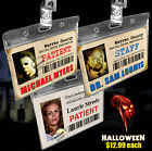 Halloween Michael Myers Mask adult Costume Movie Prop Badge Dr. Loomis id card