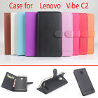 "Build-in Case Protective Flip PU Leather Cover For 5"" Lenovo Vibe C2 Moto E 2016"