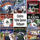 CASINO TABLE GAMES Software PC Windows XP Vista 7 8 10 NEW Factory Sealed