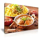 INDIAN FOOD Curry Biryan Canvas Restaurant Deco Wall Art Picture Print ~ 9 Sizes
