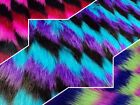 ZIGZAG SHAG FAUX Fur Fabric / Sold by the yard