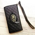 Skull Rib Cage phone Leather Pouch case Wallet Purse Card cover For iPhone 5 6S