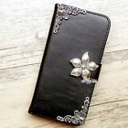 Flower phone wallet Leather flip case Floral Card cover For Samsung S6 S7 Edge