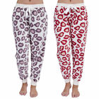 Womens Ladies Fleece Warm Lounge wear Lounge Pyjama Bottoms Pjs Pants Animal