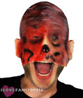 BURNT HALF FACE HORROR MASK LATEX HALLOWEEN FANCY DRESS COSTUME GORY ACCESSORY