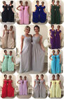 NEW CHIFFON MAXI BRIDESMAID WEDDING FORMAL DRESS PARTY EVENING PROM MINNIE