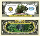 Endangered Elephant One Million Dollar Bill (Pick Quantity 5 to 5000 Bills)