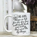 Coffee Mug - Positive Quote Message - Enjoy the simple things in life