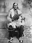 1909 Chief Peter Big Heart Osage Indian Native Historical Photograph Vintage
