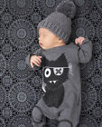 New Baby Girls Boys Longsleeves Hooded One Piece Jumpsuit Romper Newborn - 18M