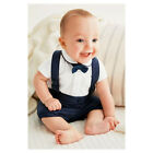 New Baby Boys Shortsleeved weddings outfit set cotton Newborn-24M