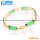 "Rectangle Stone Fashion Jewelry Gold Plated Link Bracelet Gift 7"" Free Shipping"