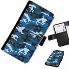 CAMA03 CAMOUFLAGE  PRINTED LEATHER WALLET/FLIP PHONE CASE COVER FOR ALL MODELS