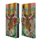 "STEVE ""SWADE"" WADE ANIMAL ILLUSTRATIONS LEATHER BOOK CASE FOR SONY PHONES 1"