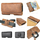 Retro Magnet Belt Holster Pouch PU Leather Card Pocket Case Cover For Cell Phone