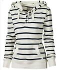 Women Casual Loose Striped Sweatshirt Hooded Hoodie Blouse Tops T-Shirt Pullover