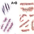 5PCs Halloween Fake Scar or Wound Temporary Tattoos Party Costume Make-up 2Style
