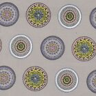 JANE MAKOWER FOLK APPLIQUÉ PALE STONE 100% COTTON FABRIC quilting dressmaking