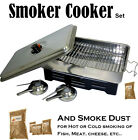 HOT SMOKER COOKER and/or Smoke Dust for Hot or Cold Smoking of Salmon Fish Meat