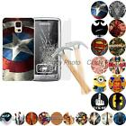 For Samsung Galaxy S5 Mini G800 2X Hard PC Case Cover Glass Film Batman Superman