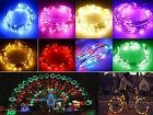2M 7ft 20 LEDS Silver Copper Wire LED Starry String Fairy  Lights Waterproof