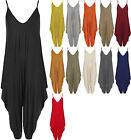 New Plus Womens Lagenlook Strappy Baggy Harem Jumpsuit Dress Ladies Top Playsuit