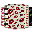 HEAD CASE DESIGNS LIP PATTERNS SOFT GEL CASE FOR APPLE SAMSUNG TABLETS