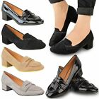New Womens Ladies Low Flat Heel School Shoes Smart Office Work Casual Pumps Size