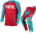 Oneal Mayhem Lite 2017 Blocker Motocross Jersey & Pants Red Blue Kit Dirt Bike